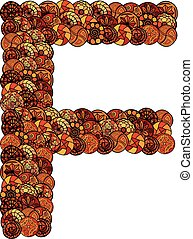 abstract vector font, made of ethnic elements
