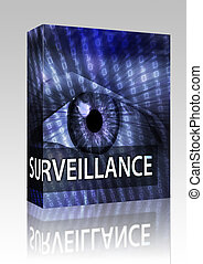 Surveillance illustration box package