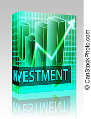 Investment finances box package - Software package box...