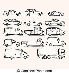 Isolated Vehicle Types - Set of transportation icons of...