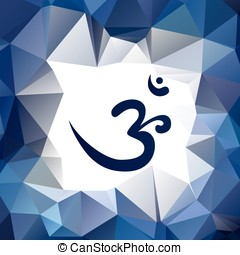 Om or Aum symbol in sacred language