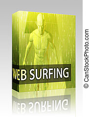 Web surfing illustration box package - Software package box...