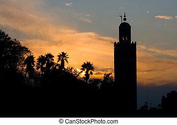 Marrakech - Koutoubia mosque, Marrakech, Morocco
