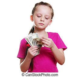 Dinheiro, menina
