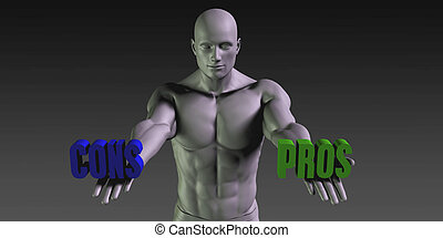 Pros vs Cons Concept of Choosing Between the Two Choices