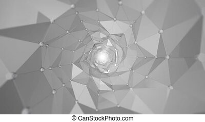 Abstract background - Polygon waves - Smooth Polygons Waves...