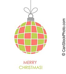 Christmas bauble ornament vector