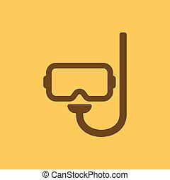 The scuba mask icon Diving symbol Flat Vector illustration