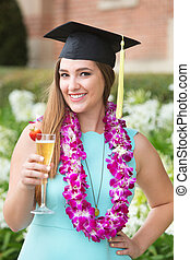Student with Wineglass