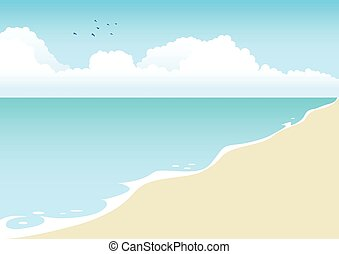 Beach Cartoon - Illustration of a beach