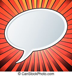 Empty speech bubble template. Comic style. Pop art design....