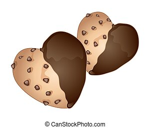 heart shaped cookies - a vector illustration in eps 10...