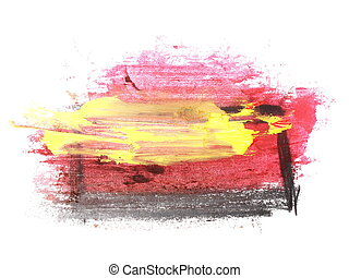 yellow red grunge brush strokes - photo yellow red grunge...