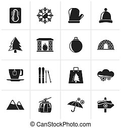 Winter, Sport and relax icons - Black Winter, Sport and...