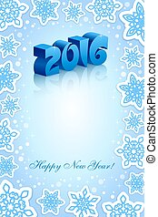New Year 2016 blue background