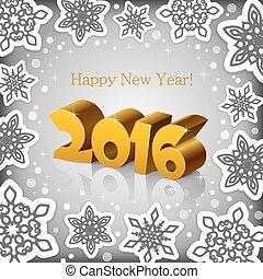 New Year 2016 grey background