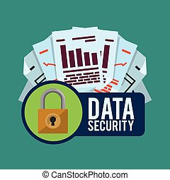 Data security design - data security concept with system...