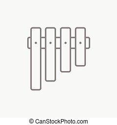 Vibraphone line icon.