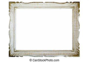 Picture Frame - An old picture frame isolated on white...