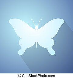 imaginative butterfly icon - Creative design of imaginative...