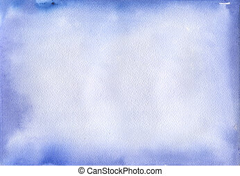 Abstract blue watercolor background. Space backgraund for...