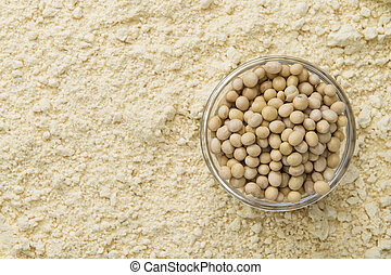 Soy Flour Background - Portion of Soy Flour detailed...