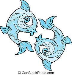 pisces symbol - Creative design of pisces symbol