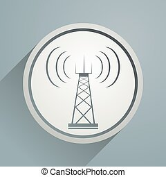 telecommunications tower sign - Creative design of...