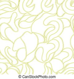 leafless - seamless pattern with abstract continuous line...