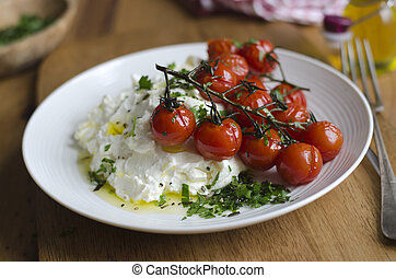 Ricotta with roasted tomatoes