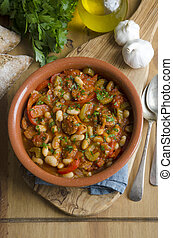 Andalusian stew - Andalusian style chorizo with bean stew