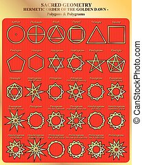 Sacred Geomertry - Character set of sacred geometry of the...
