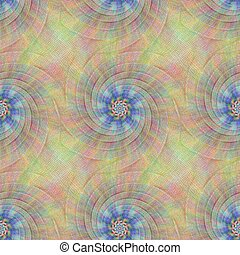 Colorful repeating fractal curved line pattern design