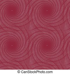 Maroon repeating fractal curved line pattern design