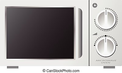 Microwave oven mechanic vector illustration isolated on...