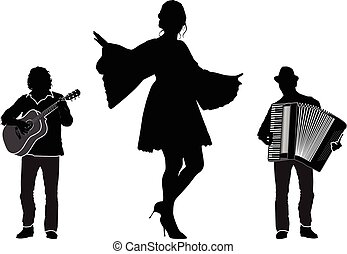 Musicians and dancer