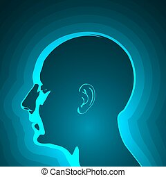 Abstract Profile of Human Head