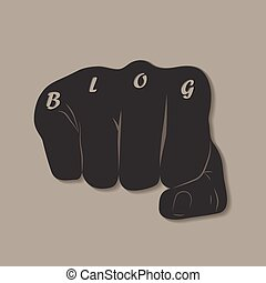 Blog Fist - Social Media Connecting Blog Communication...