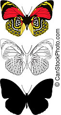 butterfly - Illustration butterfly in vector