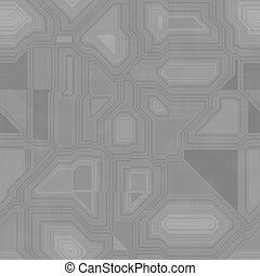 Seamless greyscale pattern inspired by computer circuit - in...