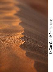 Closeup Rippled Sand Dune