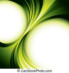 Green background design - Vector background - glowing green...