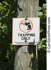 trapping only sign, no guns
