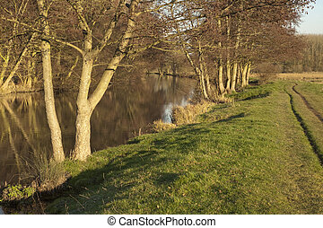 River Kennet at Ufton, near Reading, Berkshire, Uk
