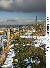 Coombe Gibbet on a winter\'s afternoon, Inkpen, near...