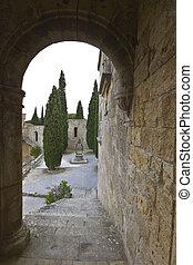 Filerimos, mosteiro, rhodes, ilha, Grécia