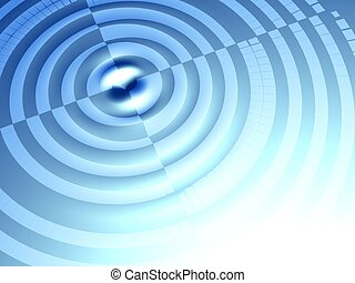 Target concept ripple effect background