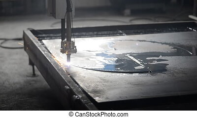Industrial laser plasma cutting processing manufacture...