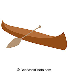 Canoeing - Boat for water sports and tourism events. The...