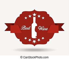 best wine design - best wine design, vector illustration...